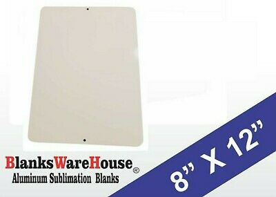 30 Pieces of PARKING SIGN WHITE ALUMINUM SUBLIMATION BLANKS 8 x 12 w/ HOLES