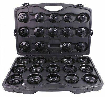 KS TOOLS 150.9350 3/8'' Oil filter cap wrench Set, 30 pcs for BMW, Ford, Opel