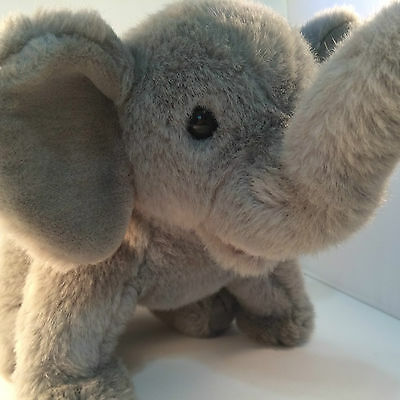 "TY Elmer Elephant 1989 20"" Grey Ears ELMER HTF Large Vintage Plush"