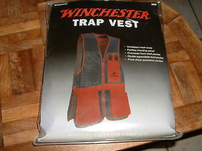 Winchester Trap Shooting Vest Ventilated Mesh Medium (38-40) NEW NIP