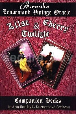 Lilac & Cherry Twilight Lenormand Vintage Oracle Berenika 36+36 Card Deck ENG