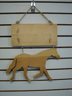 NEW Wooden Stall / Horse Name Plate / Plaque Natural