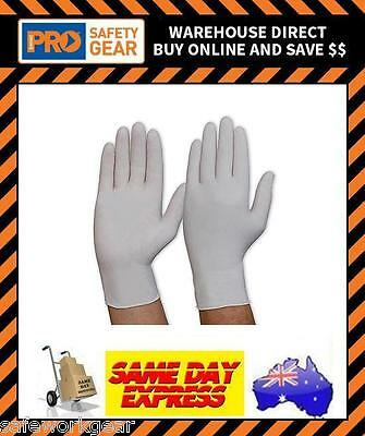 (200 Gloves) Prochoice Disposable Latex Safety Gloves Lightly Powdered White