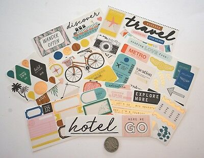 Scrapbooking No 007 - 25 Plus Authentique Travel Stickers - Mixed Shades