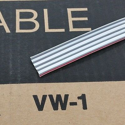 """10' 3M 8132/05, 5 Cond 18 Gauge 0.156"""" 3.96mm Spacing Flat Ribbon Cable 5C 18AWG"""