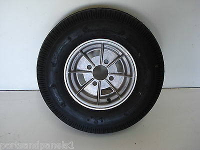 10 Inch Mini 4 Stud Boat Or Camper Trailer Alloy Mag Wheel / Rim And 10X5 Tyre