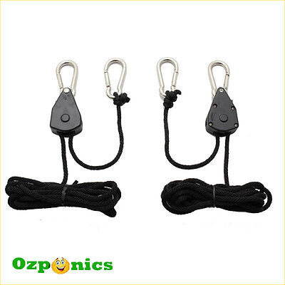 Rope Ratchet Heavy Duty Adjutable Reflector Hanger Hanging System - 1 Pair