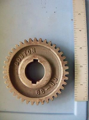 """Boston Spur Change Gear GD 39 tooth 1"""" bore 14 1/2 PA 3.25 pitch 12 DP used"""