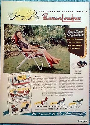 1947 BarcaLoafer Lady Sitting Yard Flowers Comfort Out Of This World ad
