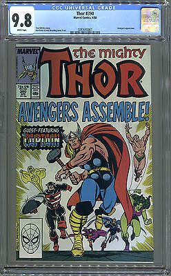 Thor #390 (Marvel, 1988) CGC 9.8! NM++! Awesome Cover!!! DeFalco.