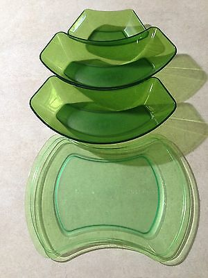 Tupperware Nibblies platters trays mix and match green