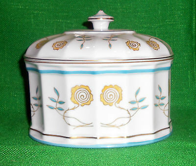 Lovely Large Vista Alegre Hand Painted Oval Box Portugal Flowers Vines Gold EUC
