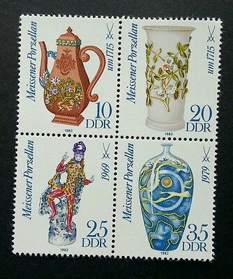 Germany Meissen Porcelain (II) 1982 Art Culture Vase Ancient (stamp) MNH