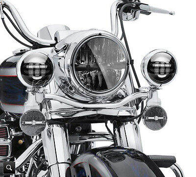 "7"" LED Projector Daymaker Headlight + Passing Lights Fits Harley Road King"