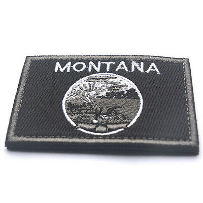 USA Montana MT STATE FLAG U.S. ARMY EMBROIDERED MORALE TACTICAL PATCH