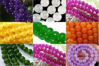 Wholesale 4-6-8-10-12mm Beautiful gemstone / jade the Round Gems Loose Bead 15 ""