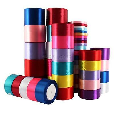25yards 10mm to 80mm Satin Ribbon Sewing Decoration Wedding Crafts Party Supply