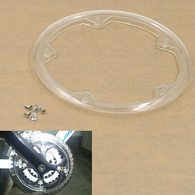 5 Holes Plastic Bike Bicycle Crankset Cap Protect Chain Wheel Cover Guard Clear
