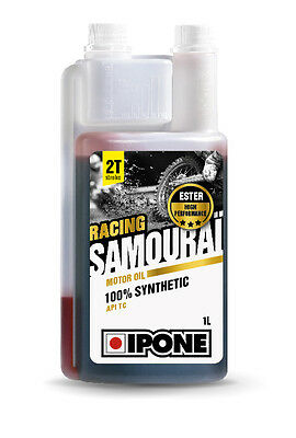 Huile Moteur Moto 2T 100% Synthese Ipone Samourai Racing- 1L