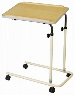 Cefndy Utility Overbed Chair Table Aid Adjustable Height Castors Steel Portable