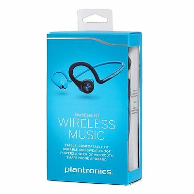 Plantronics BackBeat FIT Bluetooth Sport Wireless Headphones Blue with Arm Band