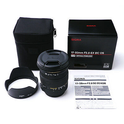 Sigma 17-50mm F2.8 EX DC OS HSM Zoom Lens for Canon Mount Camera DSLR *CON*