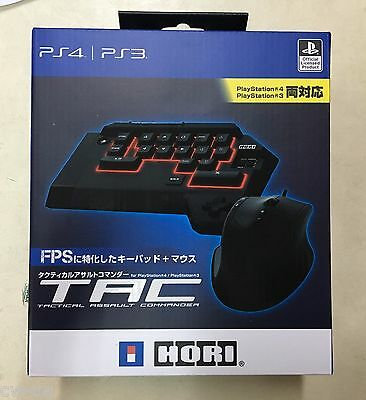 HORI TAC 4 Tactical Assault Commander For  PS4 PS3 Gaming Keyboard Mouse PS4-008