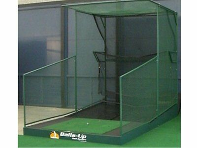 Golf training practice net - patented ball return and auto tee up