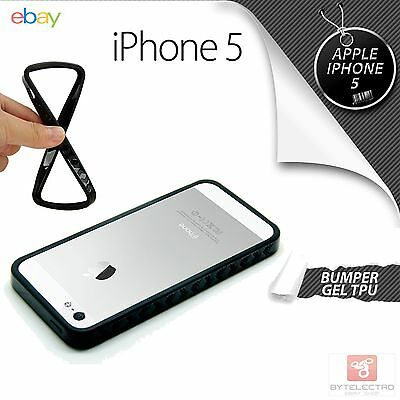 Bumper GEL TPU Negro Para iPhone 5