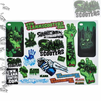 Slamm Scooters 21 Set Sticker Sheet/Sticker Pack for Slamm/Micro/JD Bug Scooters