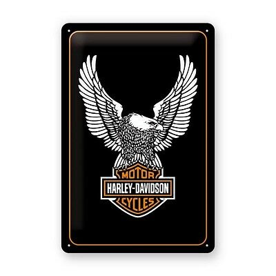 Plaque décoration Aigle Harley Davidson moto custom Biker chopper eagle - 22236