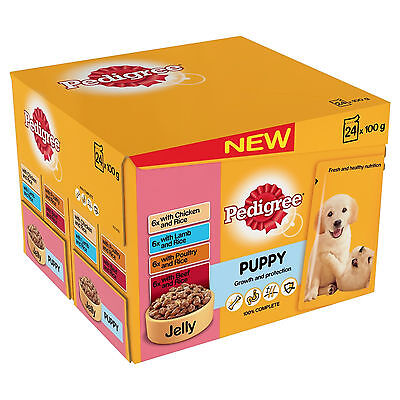 Pedigree Puppy Pouches 100g 24 Pack Meat Selection