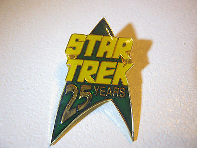 Star Trek 25 Years Green Lapel Metal Pin Brooch