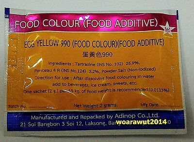 Food color (Food additive) powder Egg Yellow  (tartrazine ponceau 4r mix)
