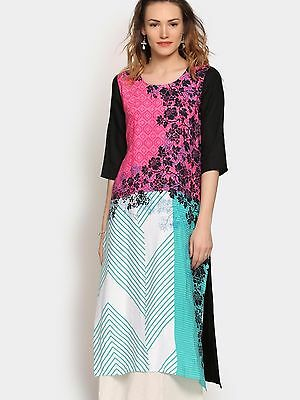 Women Kurti Top Apparel Dress Ethnic Kurta Suit Salwar India Pakistan Gown Tunic
