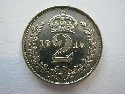 1915 Maundy Twopence A UNC