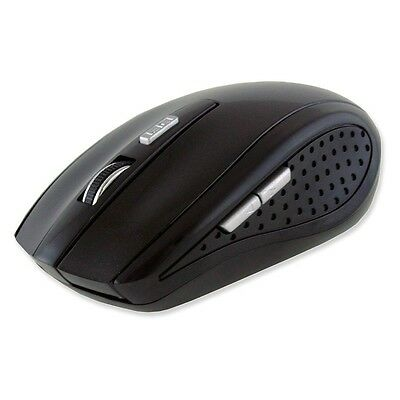 PC Laptop Computer 2.4GHZ Wireless Mouse and Mini USB Receiver - Black