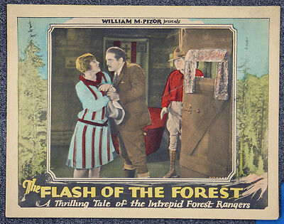 Flash Of The Forest '28 Forest Rangers Action Original Silent Lobby Card