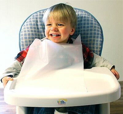 Disposable White Children's Bibs Case Of 500 Plastic Free Shipping