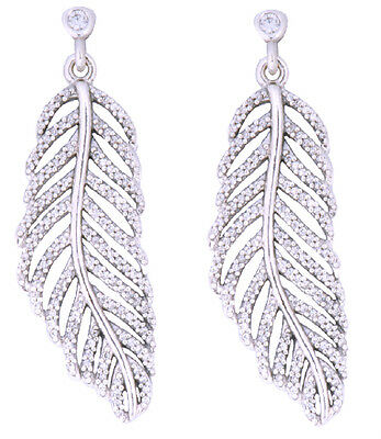 ada9b048957d5 PANDORA SHIMMERING FEATHER Stud Earrings - Catalogue item 290582CZ ...