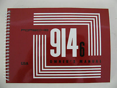 Porsche 914-6 owner manual nice reproduction of the nla original 1970