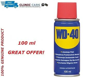 WD40 Aerosol Spray Can WD-40 Oil Lubricant Rust Corrosion Protection Lube 100ml