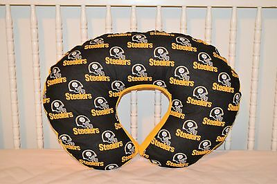 Boppy Pillow Cover M/w Pittsburgh Steelers Fabric