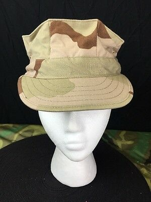 Us Military Usmc 8-Point Desert Camo Utility Cap Dcu Size Small New