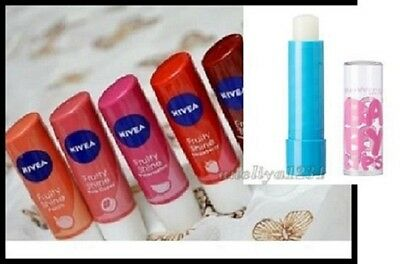 NIVEA LIP CARE BALM and MAYBELIN SPF FRUITY ESSENTIAL HYDRO PEARLY MEN COLOUR