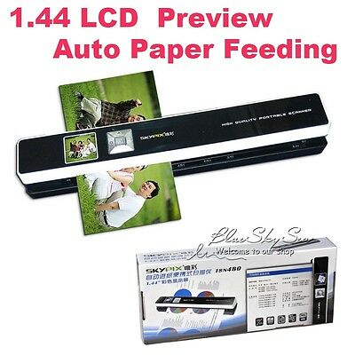 "Skypix TSN480 Portable Scanner Handheld Handyscan 1200DPI 1.44"" Preview A4 Color"