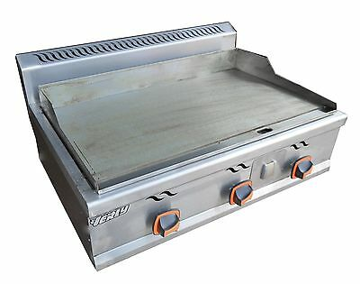 New Stainless Commercial Kitchen LP Gas Countertop Flat Griddle Grill