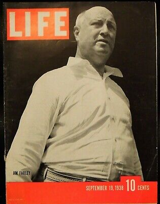LIFE September 19,1938 Jim Farley / British Cabinet Plays War Poker with Hitler