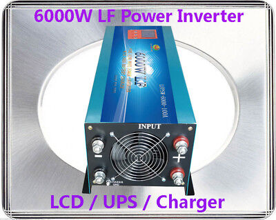 24000W/6000W LF Pure Sine Wave 12V DC/240VAC 50Hz Power Inverter LCD/UPS/Charger