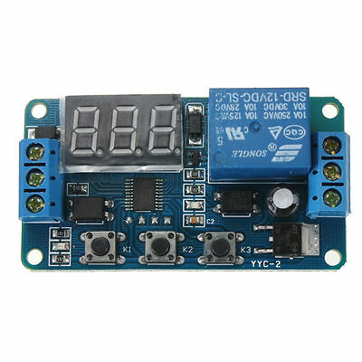 Automation DC 12V LED Display Digital Delay Timer Control Switch Relay Module DI